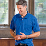 Adult Gildan DryBlendJersey Polo with Pocket