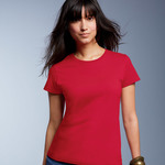 Ladies' Midweight Mid-Scoop Cotton Tee