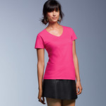 Ladies' Lightweight V-Neck Cotton Tee