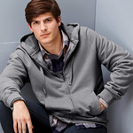 Adult Nano Full-Zip Blended Hooded Fleece