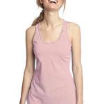 ™ Ladies Mini Stripe Gathered Racerback Tank