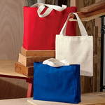 USA Made Medium Gusset Cotton Canvas Tote