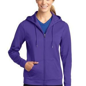 Ladies Sport Wick ® Fleece Full Zip Hooded Jacket Thumbnail