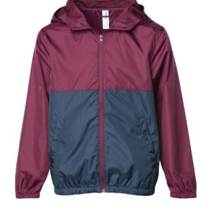 Youth Light Weight Windbreaker Zip Jacket Thumbnail